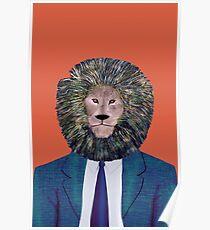 Mr. Lion's portrait Poster