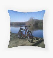 OCC bike at Riverside Park Throw Pillow