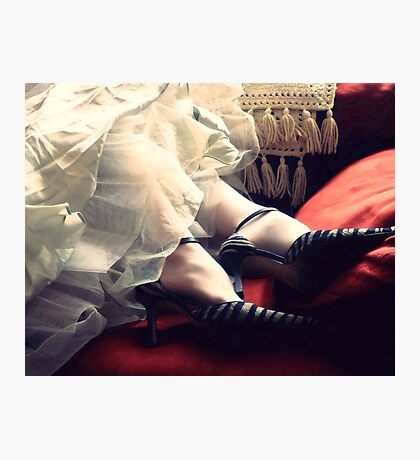Mrs. Havisham's Zebra Heels Photographic Print