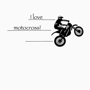 I love motocross t-shirt 1 (black logo) by Spartiatis75