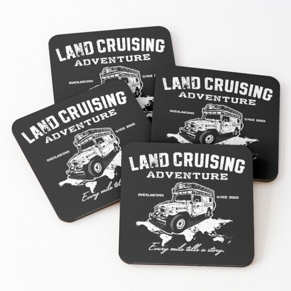 Every Mile Tells a Story - pure white Coasters (Set of 4)