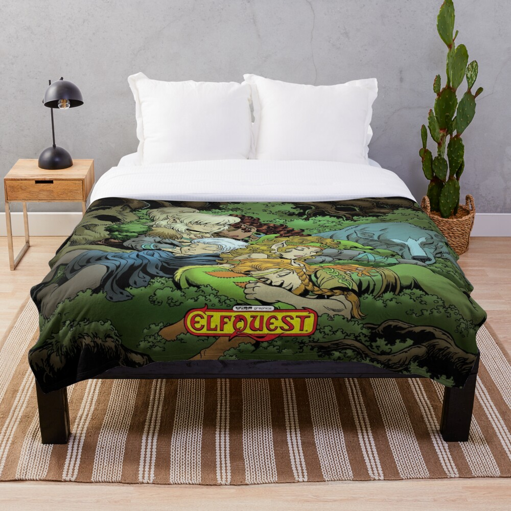 Elfquest: True Peace II Throw Blanket