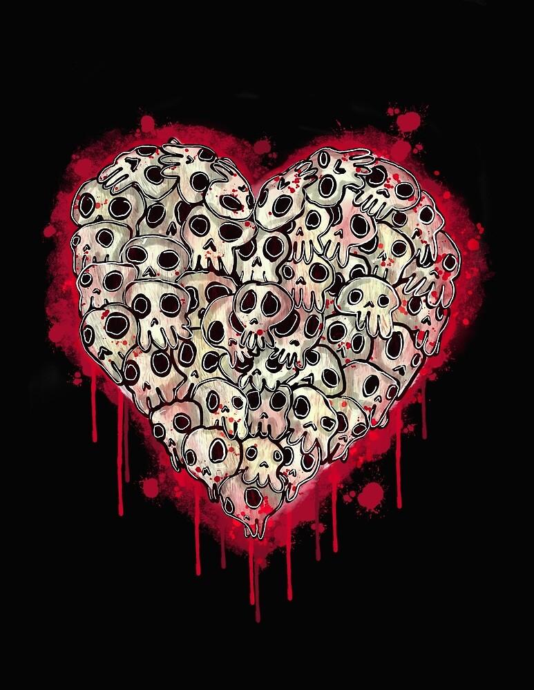 Skull Heart by GroglioArt