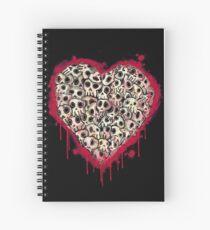 Skull Heart Spiral Notebook