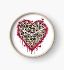 Skull Heart Clock
