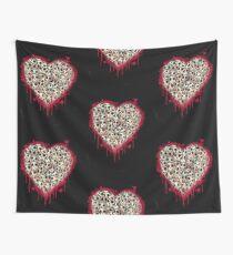 Skull Heart Wall Tapestry