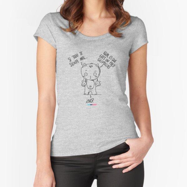 Todo MAL by Fran Ferriz Camiseta entallada de cuello ancho