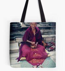 Monk in Bodh Gaya Tote Bag