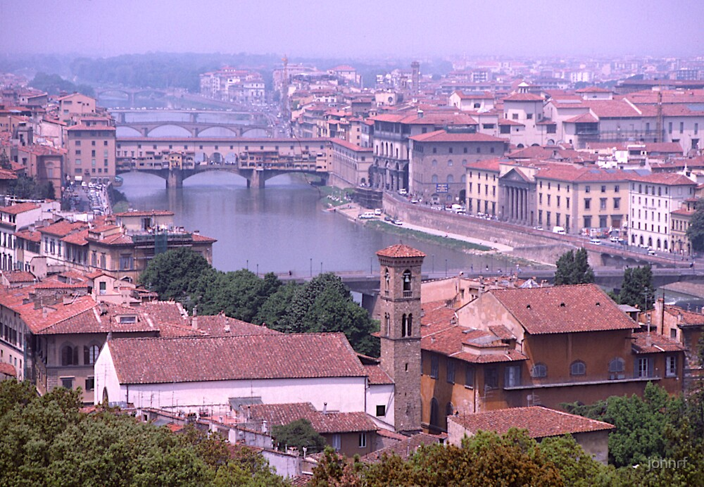 Bridges, River Arno, Florence, Italy. by johnrf