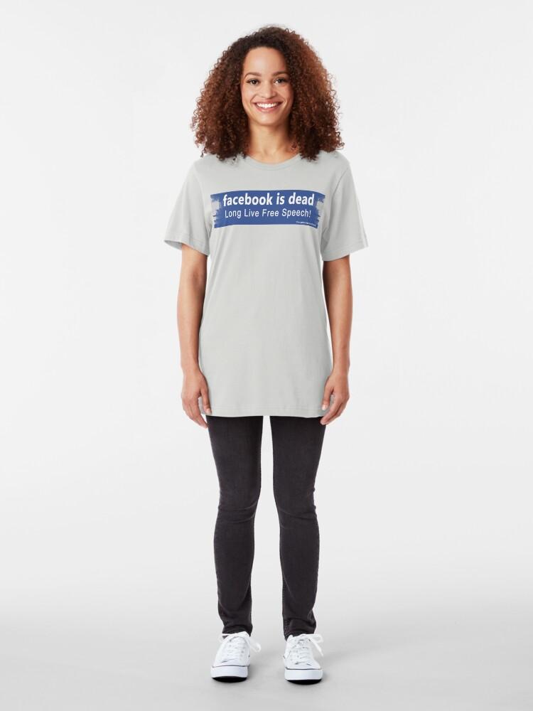 Alternate view of Facebook Is Dead Slim Fit T-Shirt