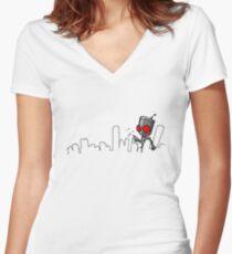 I-Destroy Women's Fitted V-Neck T-Shirt