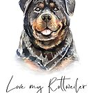 Love my Rottweiler by hypnotzd
