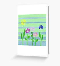 Lollipops In The Garden Greeting Card