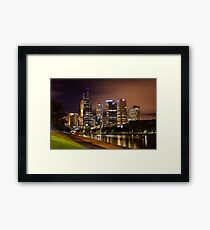 Autumn Night on Swan Street Bridge Framed Print