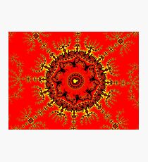 Persian Carpet Mandelbrot Photographic Print