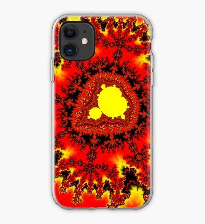 Yellow Mandelbrot iPhone Case