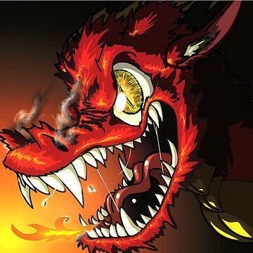 Fiery Dragon Glare by TheDragonLady23