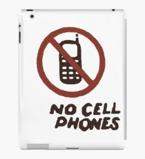 No Cell Phones (Luke's Diner) iPad Case/Skin