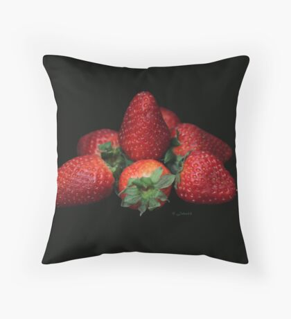 About light and strawberries.. Throw Pillow