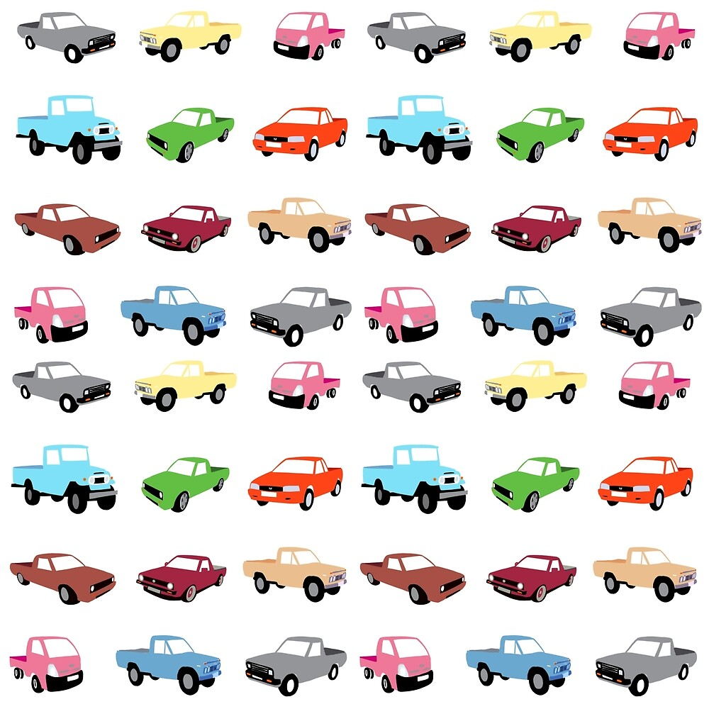 Assortment cars and trucks by Quick2Draw