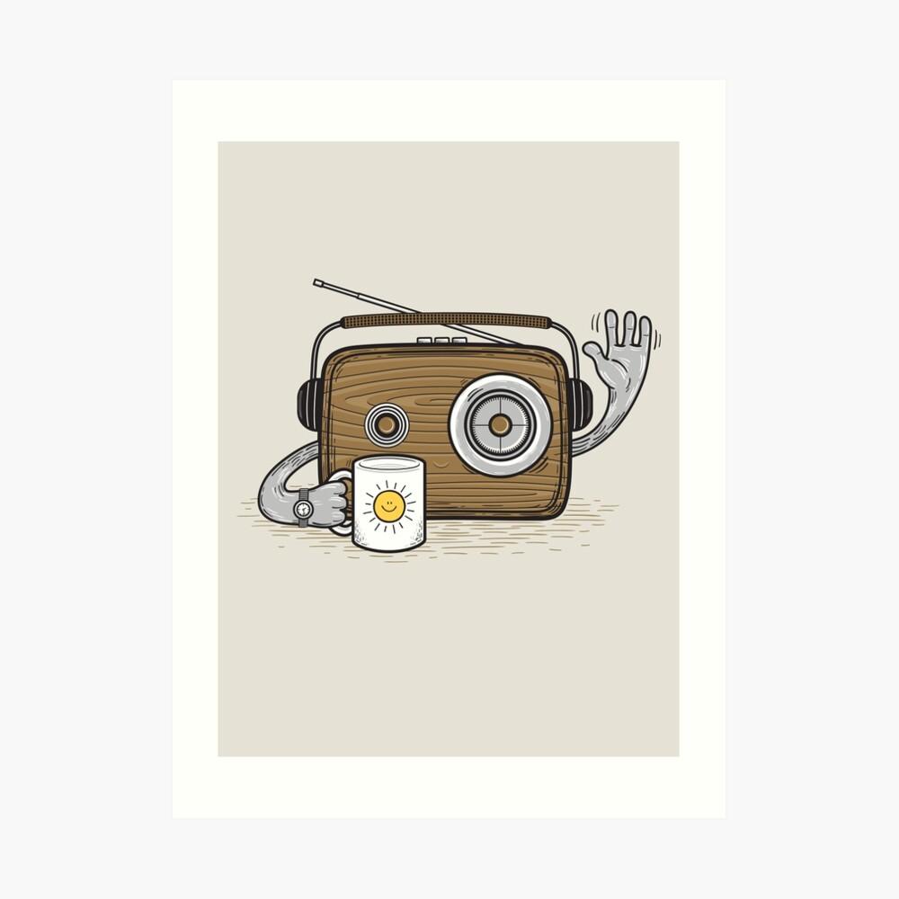 Radio Waves Good Morning Art Print