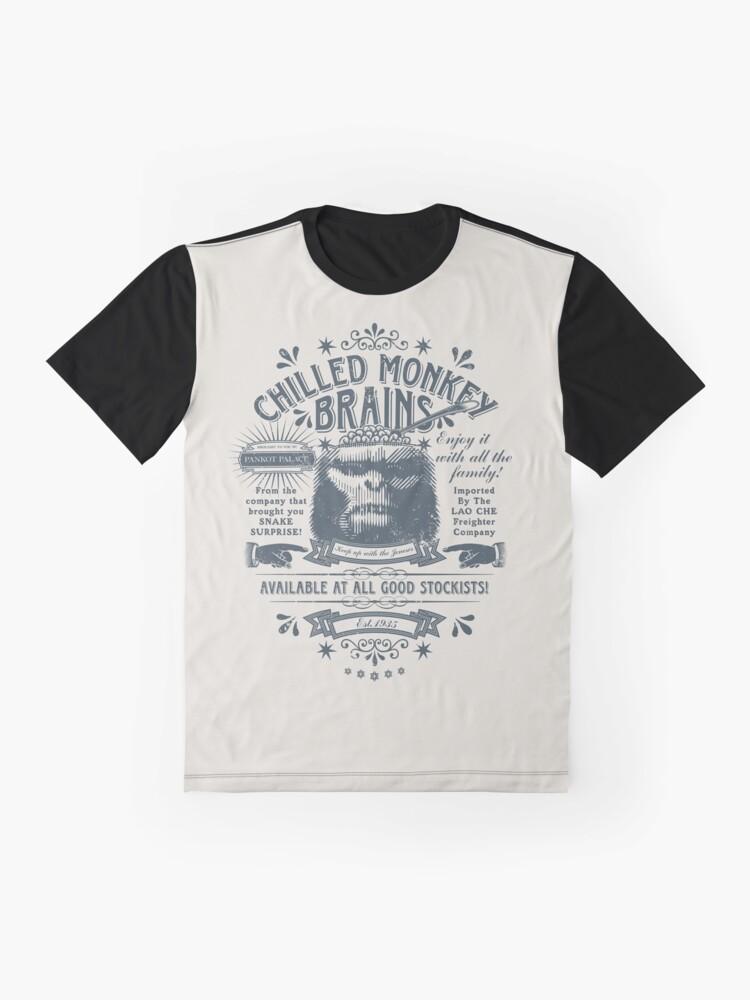 Alternative Ansicht von Gekühlte Affengehirne Grafik T-Shirt