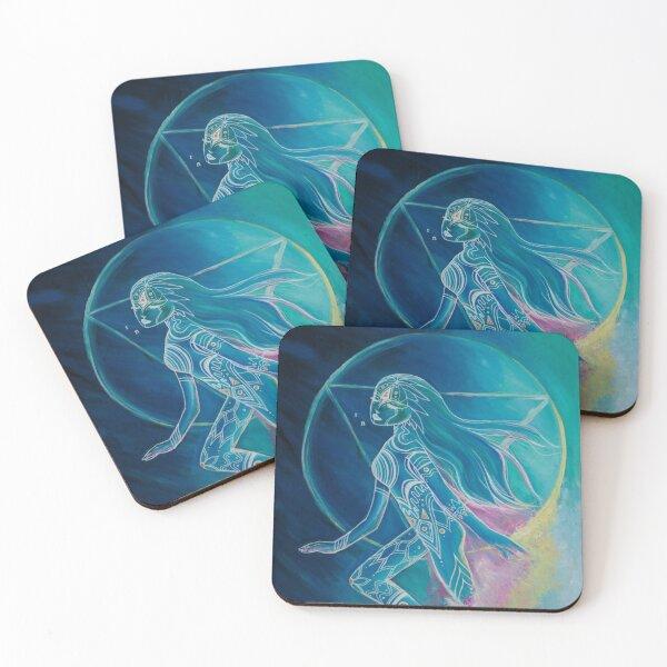 Inner Goddes / Third Eye Chakra Coasters (Set of 4)