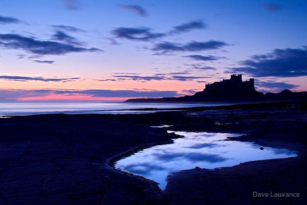 Bamburgh Castle - Pre Dawn by Dave Lawrance