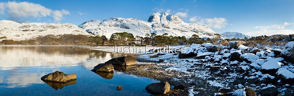 Slioch, from Loch Maree, Scottish Highlands. by Justin Foulkes