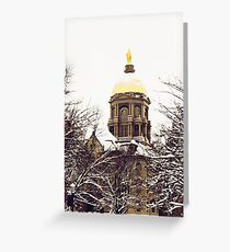 Notre Dame - Golden Dome Greeting Card