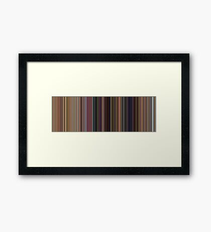 Moviebarcode: Toy Story (1995) [Simplified Colors] Framed Print