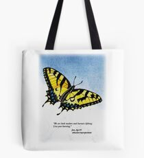Lifelong Learning Butterfly Tote Bag