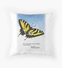 Lifelong Learning Butterfly Throw Pillow