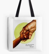 Holding Hands Across Generations Tote Bag