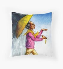 Choose to Enjoy Life Even on the Rainiest Days Throw Pillow