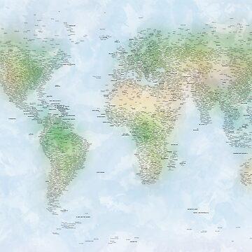 World City Map by ArtPrints