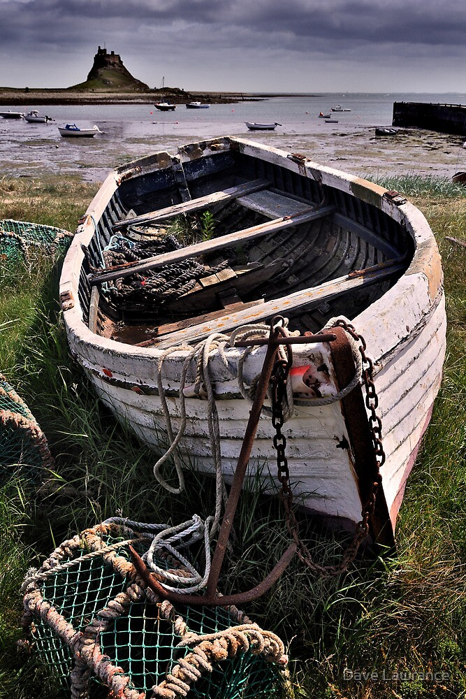 Quot Old Boat And Lobster Pots Lindisfarne Quot By Dave Lawrance
