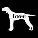 English Pointer Love - A Minimalist Distressed Vintage Style Design for Dog Lovers by traciwithani