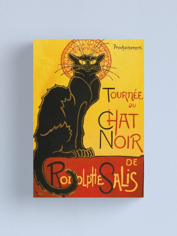 Alternate view of Le Chat Noir The Black Cat Art Nouveau Vintage Canvas Print