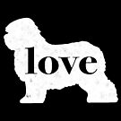 Old English Sheepdog Love - A Minimalist Distressed Vintage Style Design for Dog Lovers by traciwithani