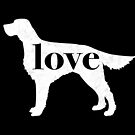 Irish Setter Love - A Minimalist Distressed Vintage Style Design for Dog Lovers by traciwithani