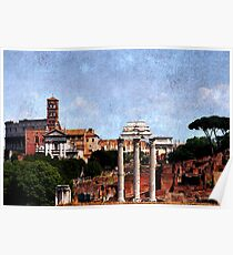 Temple of Castor and Pollux, The Forum,  Rome Poster