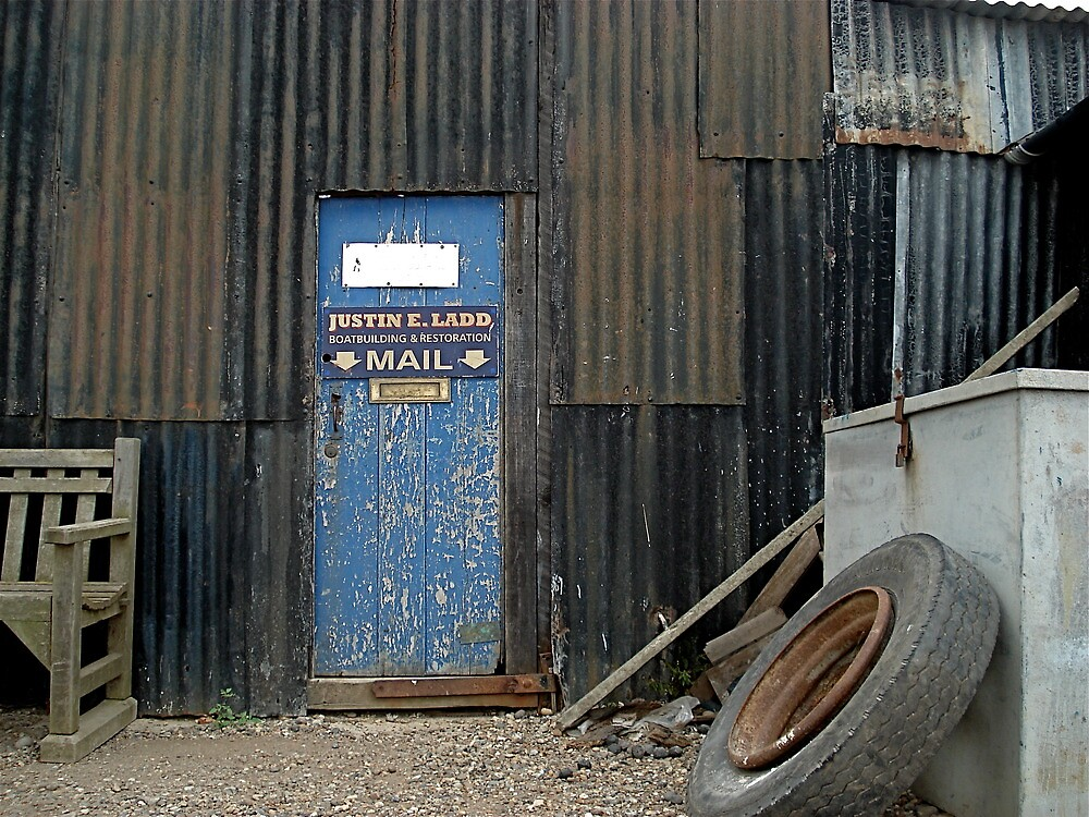 Door with letterbox by richard  webb