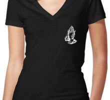 6 GOD - BLACK SMALL Women's Fitted V-Neck T-Shirt