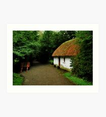 thatched cottage.. Art Print