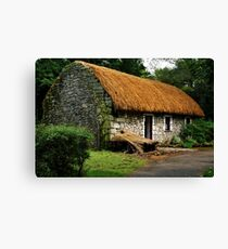 irish cottage.. Canvas Print
