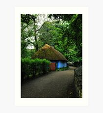 blue cottage.. Art Print