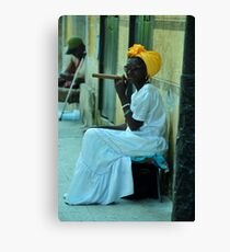 Cuban Lady Canvas Print
