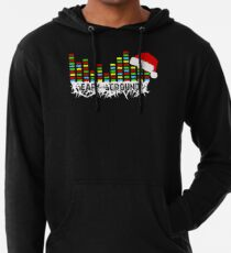 Ear to the Ground Colorful Christmas Lightweight Hoodie