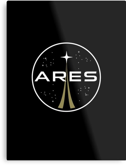 """ares mission to mars logo - the martian"""" metal prints"""